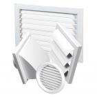 Plastic air distribution components